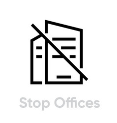 Stop offices protection measures icon editable vector