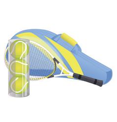 tennis racket tennis ball sport equipment vector image
