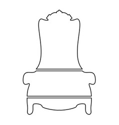 Throne icon vector