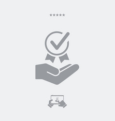 Top quality certification - web icon vector