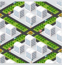 Urban isometric 3d a city block vector