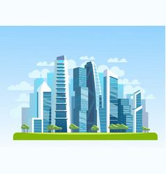 urban landscape pattern vector image