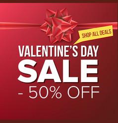 Valentine s day sale banner big super sale vector