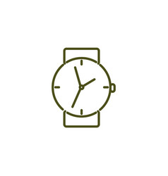 watch simple icon vector image