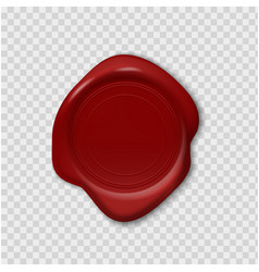 wax stamp retro realistic red seal 3d imprint on vector image