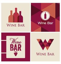 wine bar logo vector image