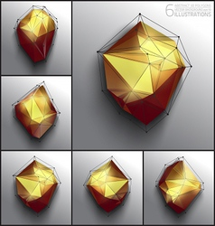 abstract 3d polygons vector image vector image