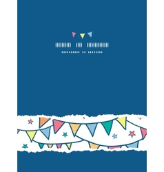 Colorful doodle bunting flags vertical torn vector image vector image