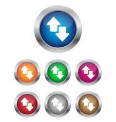 Data transfer buttons vector image