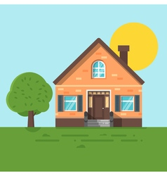 flat style of summer house vector image