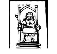 King on throne vector