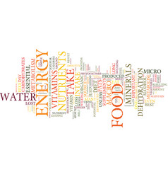 food for potential energy text background word vector image