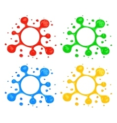 Highlighter Blot Design Elements vector image vector image