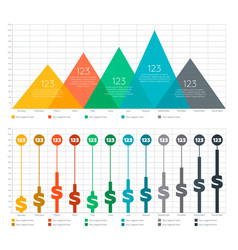 Infographic elements - bar and triangle chart vector