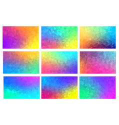 polygon mosaic backgrounds set colorful vector image vector image