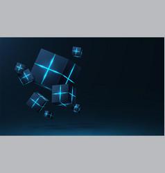 realistic 3d cubes vector image