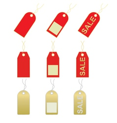 sale and price tags vector image vector image