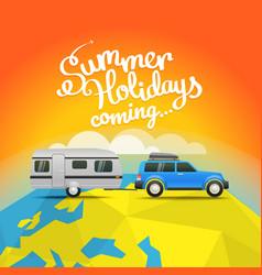 Summer travel summer holidays coming concept vector
