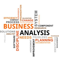 word cloud business analysis vector image