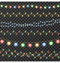 christmas garland lights isolated on vector image vector image