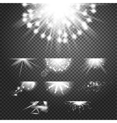 Glint glory effect Simple white and bright vector image vector image