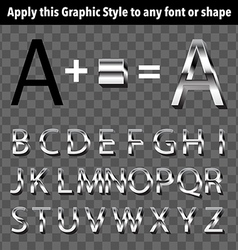 Metal Graphic Style vector image