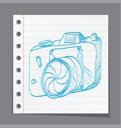 sketch style of retro camera vector image