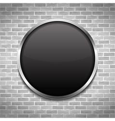 Black Round Board vector image