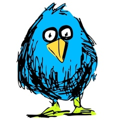 Cute bird in cartoon style vector image vector image