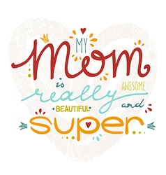 hand drawn card for Mothers Day vector image vector image