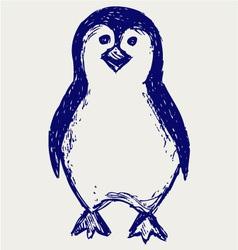 Penguin sketch vector image
