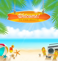 Summer holidays vacation vector image vector image