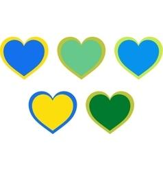 Valentine heart symbol set isolated on white vector image