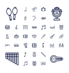37 musical icons vector image
