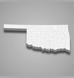 3d map state united states vector image