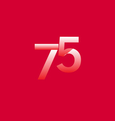 75 years anniversary celebration gradient vector