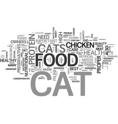 a healthy cat knows what tastes good text word vector image