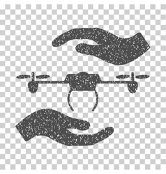 Airdrone Care Hands Grainy Texture Icon vector