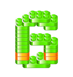 alphabet blocks figures constructor vector image