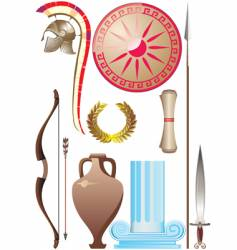Ancient greece set vector
