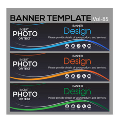 Banner web template banner blackground and banner vector