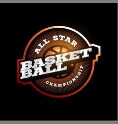 Basketball modern professional sport typography vector