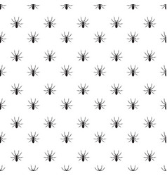 Black detail realistic spider insect pattern on vector
