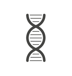 black dna helix silhouette isolated on white vector image