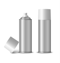 Blank silver spray bottle template vector