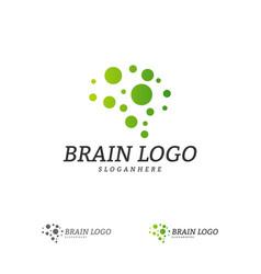 brain logo template brain logo concepts vector image