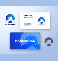 Bro handshake abstract logo and business vector