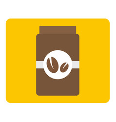 Brown coffee jar icon isolated vector