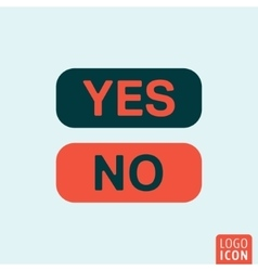 Button yes no vector image