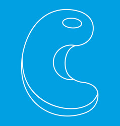 Cashew icon outline style vector